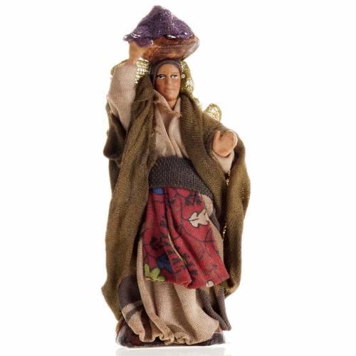 Neapolitan Nativity figurine, Woman with laundry 8cm s1