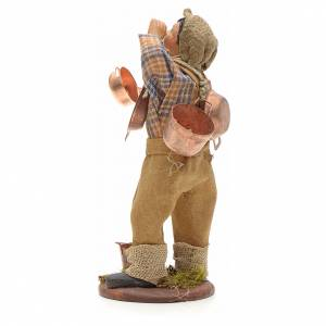 Neapolitan Nativity figurine, young boy with copper pans, 14cm s3