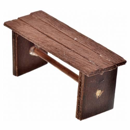 Neapolitan Nativity scene accessory, bench, 3x6,5x2,5cm s2