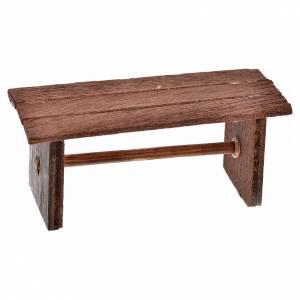 Neapolitan Nativity scene accessory, bench, 3x6,5x2,5cm s1