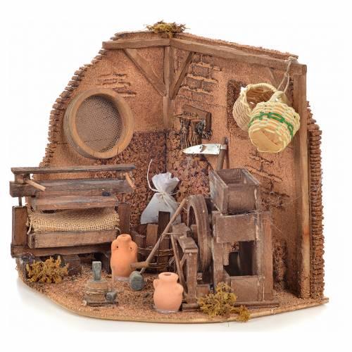 Neapolitan Nativity scene accessory, farmer shop s2