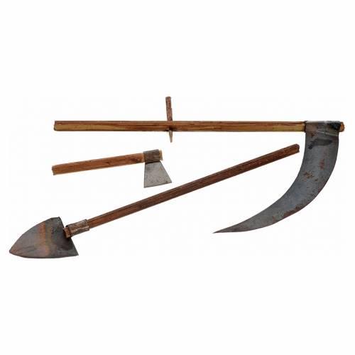 Neapolitan Nativity scene accessory, farmer tools and shovel s2