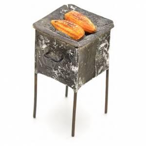 Neapolitan Nativity scene accessory, grill with corn s2