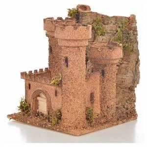 Neapolitan Nativity scene accessory, small cork castle s3