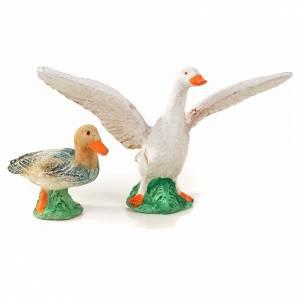 Neapolitan Nativity scene figurine, duck, goose and 2 lambs 10cm s2