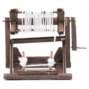 Neapolitan Nativity Scene: Neapolitan nativity scene spinning mill 8X11X6 cm