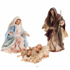 Neapolitan Nativity set, Holy family 8cm s1