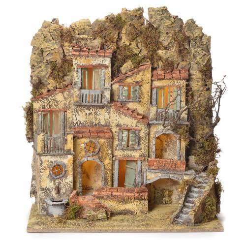 Neapolitan Nativity village with fountain 45x50x30 s1