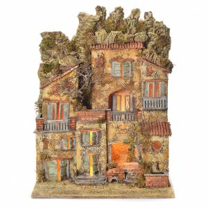 Neapolitan Nativity village with fountain 65x45x35, for 10cm s1