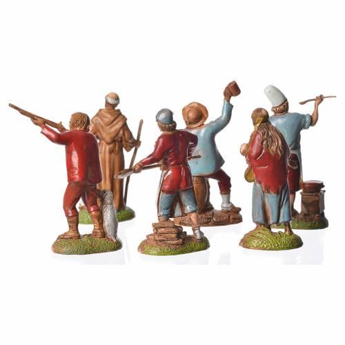 Neapolitan style shepherds, 6 nativity figurines, 6cm Moranduzzo s3