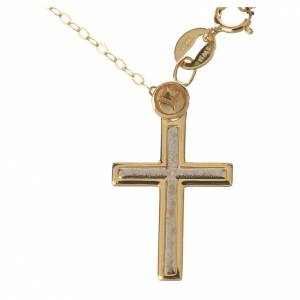 Necklace and cross pendant in 18k gold 1,74 grams s1