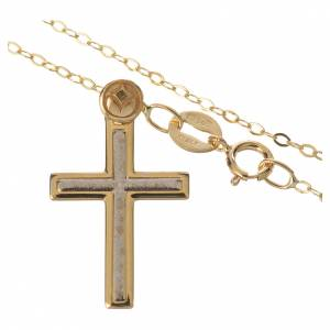 Necklace and cross pendant in 18k gold 1,74 grams s2
