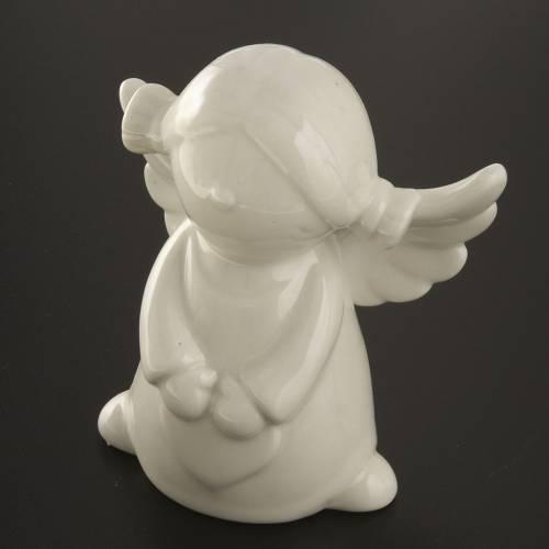 Ángeles en cerámica blanca, 4 unidades 11cm s4