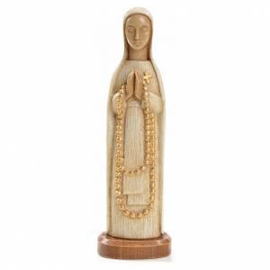 Notre Dame de Lourdes 15 cm pierre blanche Bethléem s1