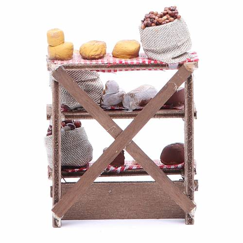 Nuts and olives stall for Neapolitan Nativity measuring 16x12x10cm s4