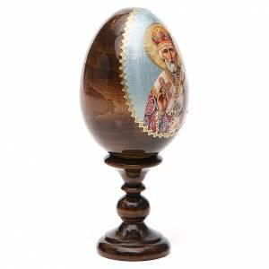 Oeuf russe peint Saint Nicolas h tot. 13 cm s4