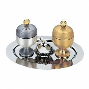 Oleje święte i akcesoria do chrztu: Oleje święte: naczynka satynowane i muszla