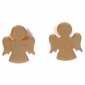 Orecchini con angelo a lobo AMEN arg 925 dorato s1