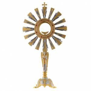 Ostensoirs, Reliquaires  en métal: Ostensoir avec ange en prière