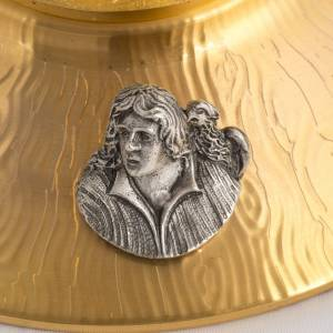 Ostensorio bronzo fuso Evangelisti gigli h 55 cm s8