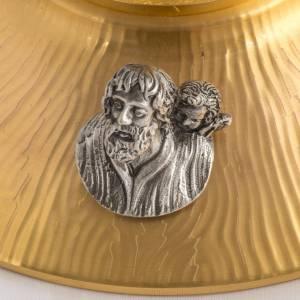 Ostensorio bronzo fuso Evangelisti gigli h 55 cm s6