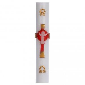 Kerzen: Osterkerze auferstandenen Christus rot 8x120cm