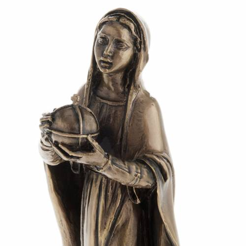 Our Lady in bronzed metal 16cm s3