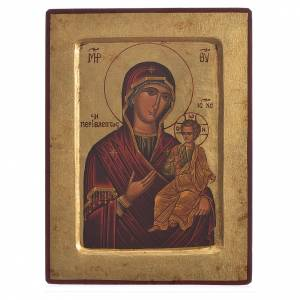 Our Lady Odigitria, serigraphy carved Icon s1