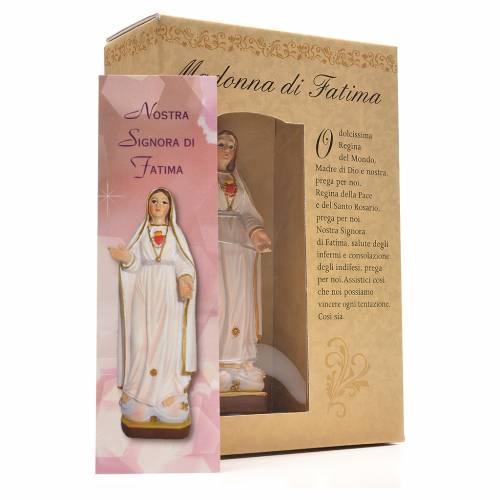 Our Lady of Fatima 12cm with Italian prayer s3