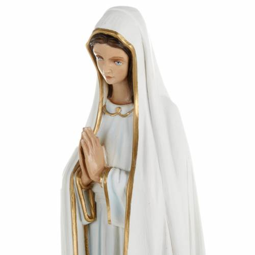 Our Lady of Fatima statue, 60cm in painted reconstituted marble s2
