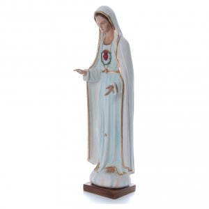 Our Lady of Fatima, statue in painted fiberglass, 100cm s2