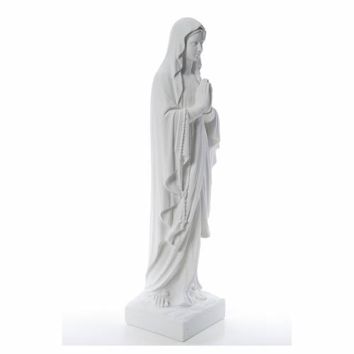 Our Lady of Lourdes 100 cm statue in reconstituted Carrara s4