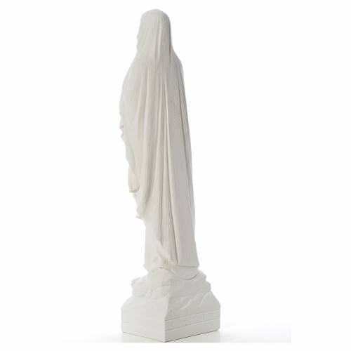 Our Lady of Lourdes 70 cm statue in reconstituted Carrara marble s3