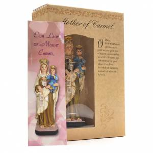 Our Lady of Mount Carmel 12cm with English prayer s3