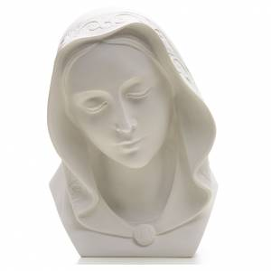 Our Lady, reconstituted carrara marble bust, 28 cm s1
