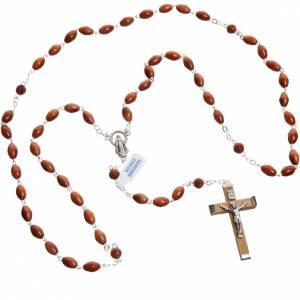 Oval bead coconut rosary s4