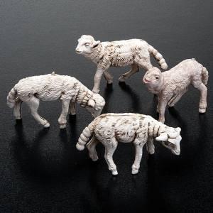 Zwierzęta do szopki: Owieczki szopka zestaw 4 sztuki 12 cm