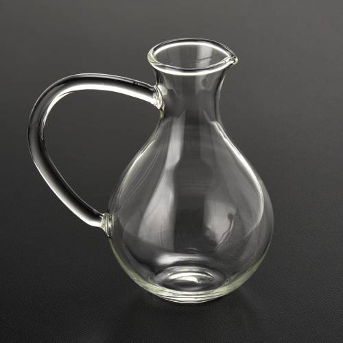 Pair of cruets in hand-blown glass s2