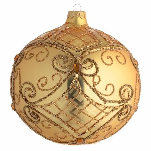 Palla addobbo Natale oro base opaca 150 mm s1