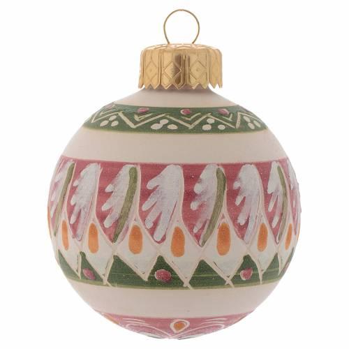 Palla di Natale in terracotta 60 mm rosa antico s1