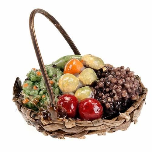 Panier de fruits avec manche bricolage pour crèche s1