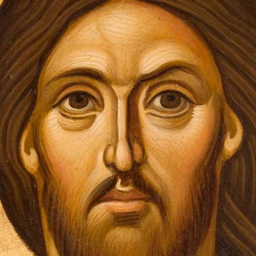 Pantocrator, close-up Greek icon, painted in Greece s2
