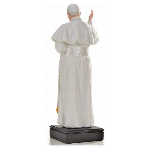 Pape François 27cm résine peinte s3