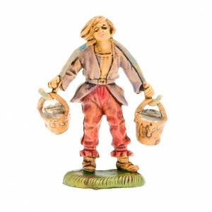 Figury do szopki: Pasterz z wiadrami 8 cm