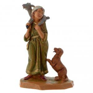 Figuras del Belén: Pastor con cabra y perro 12 cm Fontanini