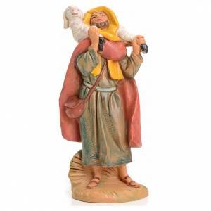 Figuras del Belén: Pastor con cordero en el cuello 9,5 cm Fontanini