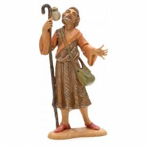 Statue per presepi: Pastore con bastone e borsa cm 12 Fontanini