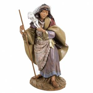 Statue per presepi: Pastore con pecora presepe Fontanini 45 cm