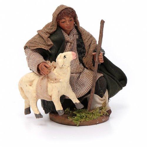 Pastore con pecorella 10 cm s1