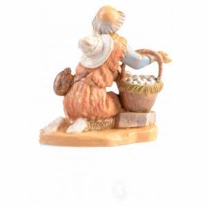 pastore in ginocchio con uova Fontanini6.5 cm s2